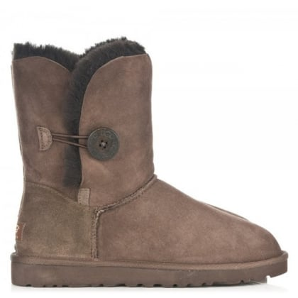 Bailey Button Chocolate Women's Flat Calf Boot