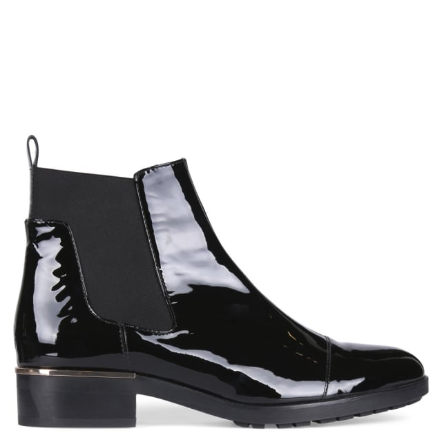 Hogl Baines Black Patent Chelsea Boots