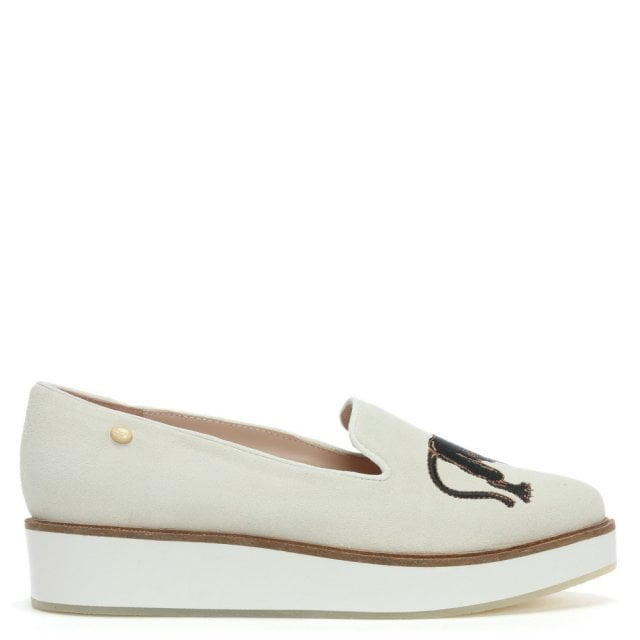 Bali White Suede Panther Loafers
