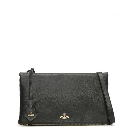 Balmoral Black Leather Cross-Body Bag