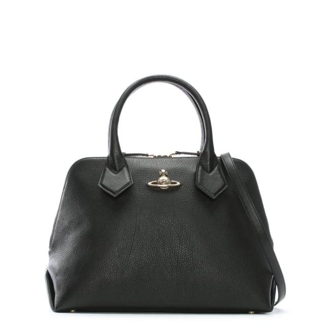 balmoral-black-leather-dome-tote-bag