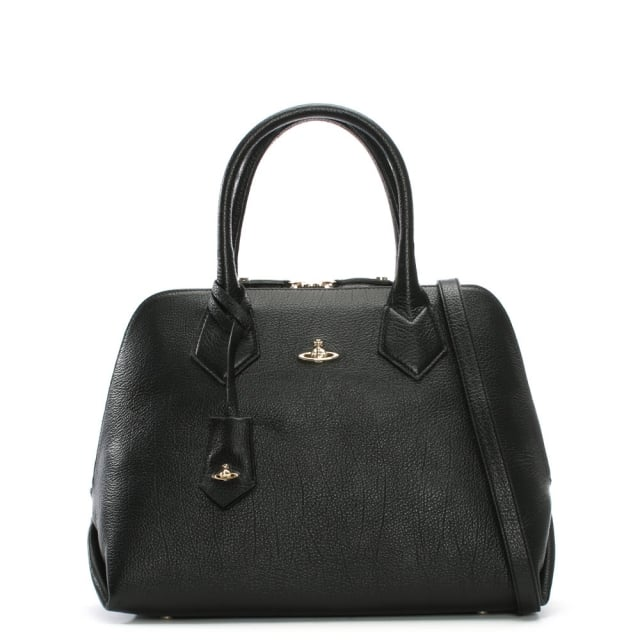 Balmoral Black Leather Tote Bag