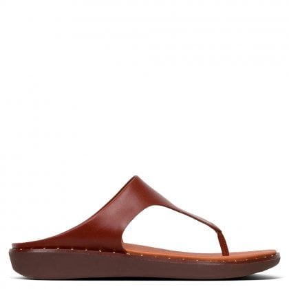 010b1e263 Banda II Cognac Leather Flip Flops