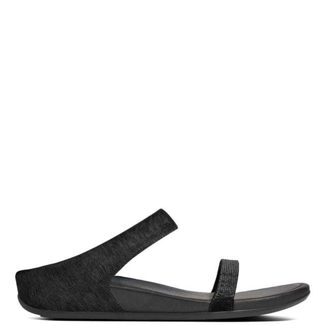 0d9c81d31a43 FitFlop Banda Micro Crystal Black Leather Slide