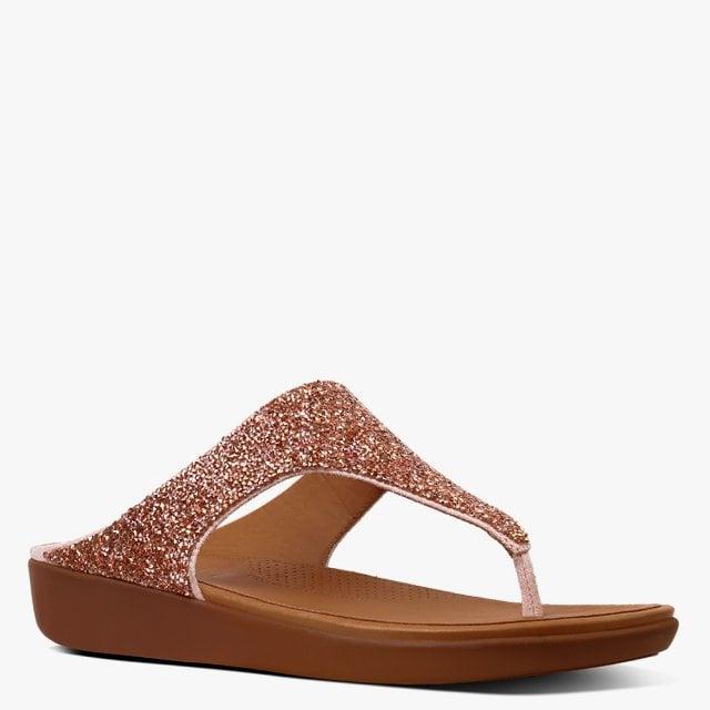 572da46c14bf15 FitFlop Banda Quartz Pink Metallic Flip Flops