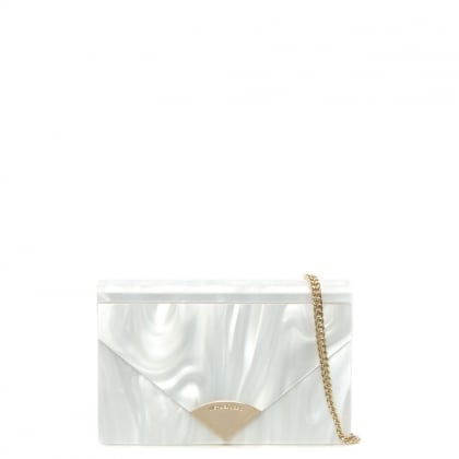 Barbara Optic White Envelope Clutch Bag