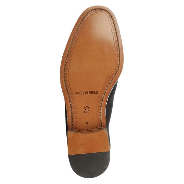 Austin Reed Barker Black Suede Saddle Stitch Loafer