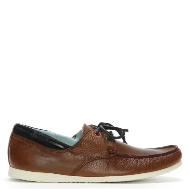 Barlace Tan Leather Lace Up Loafers