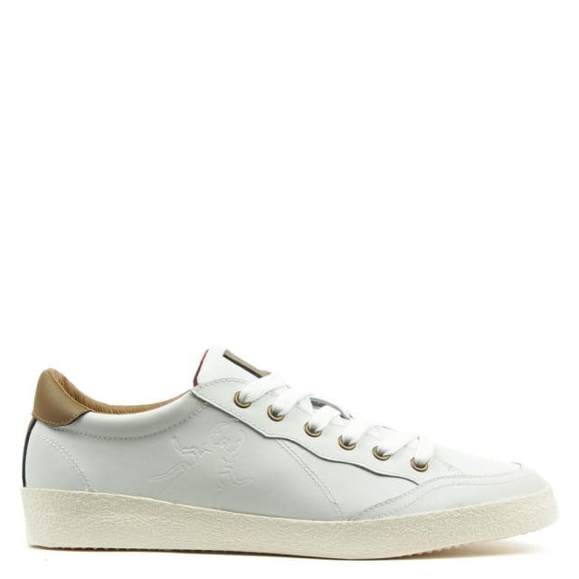Bato White Leather Lace Up Trainer