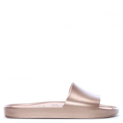 75e596b671d Melissa Beach Shine Rose Gold Sliders