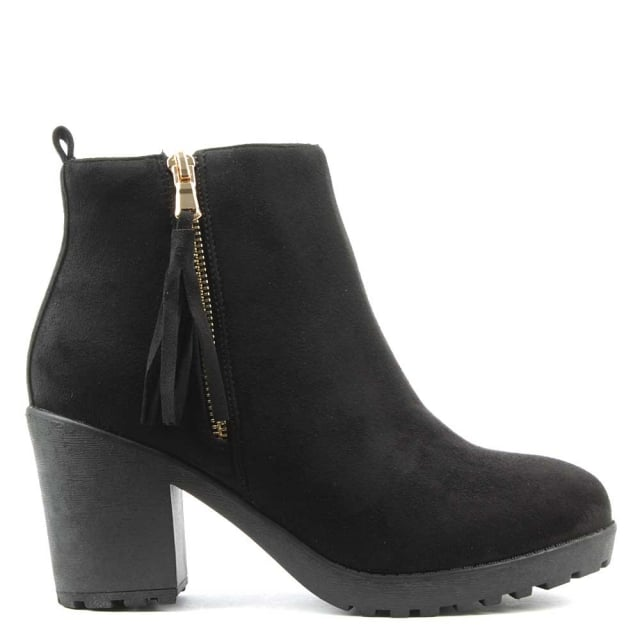 Beckside Black Tassel Ankle Boot