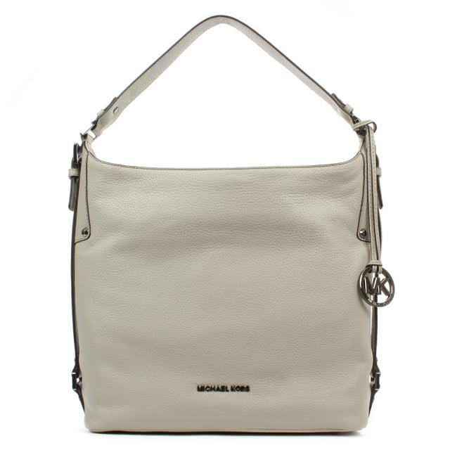 Bedford Belted Grey Leather Large Shoulder Bag