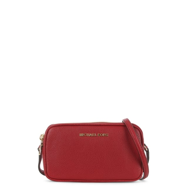 Bedford Cherry Leather Double Zip Cross-Body Bag