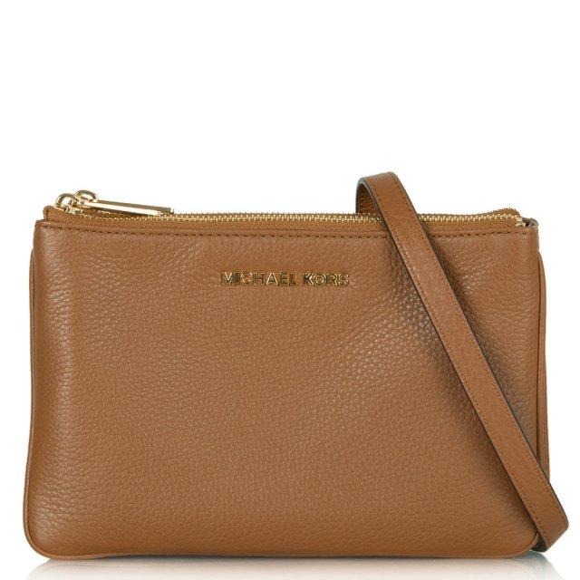 38b9b851002a Michael Kors Tan Leather Bedford Crossbody Bag