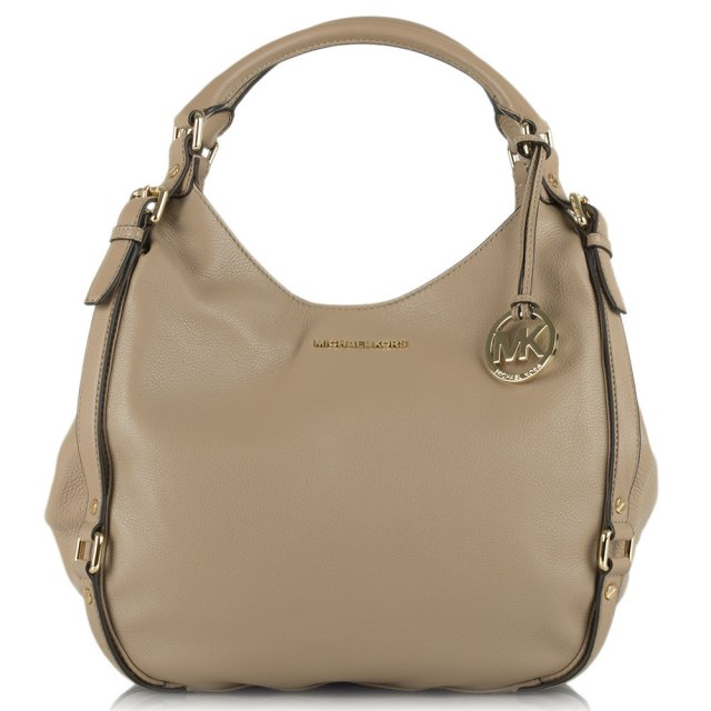 Michael Kors Beige Leather Bedford