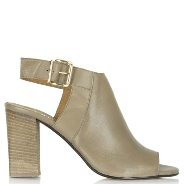 Beige Leather Flaunter Sling Back Sandal