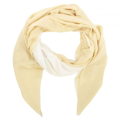 Armani Jeans Beige & White Giant Star Scarf