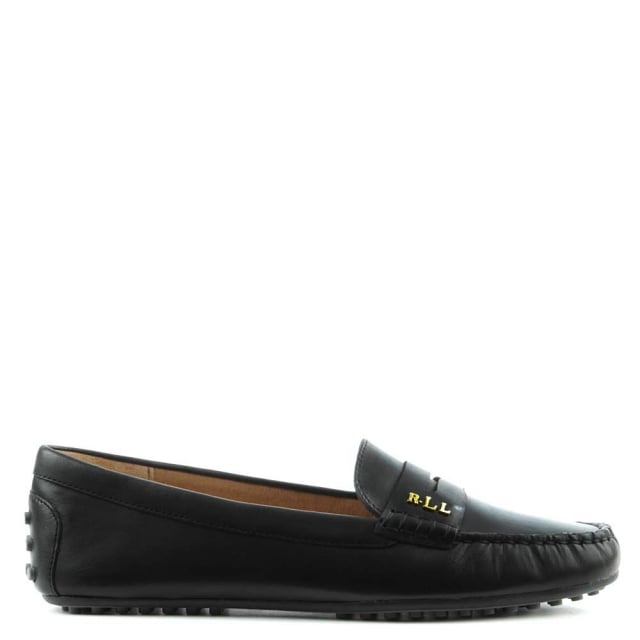 Belen Soft Black Leather Driver Loafer