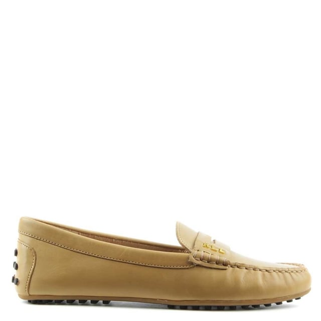 Belen Soft Camel Leather Driver Loafer