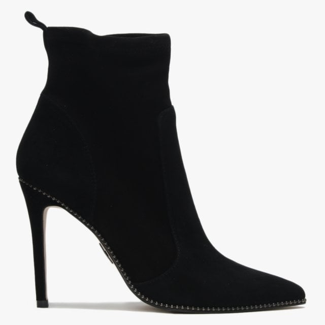 424ab39cd Moda In Pelle Belista Black Suede Studded Ankle Boots