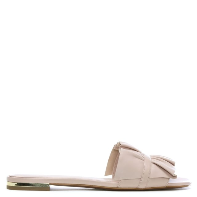 77043d7d771 Bella Soft Pink Leather Ruffle Mules