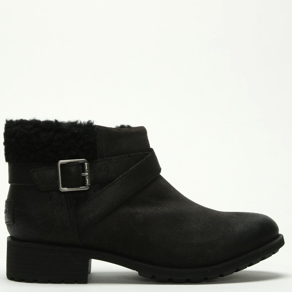 664bf013b68 Benson Black Leather Ankle Boots