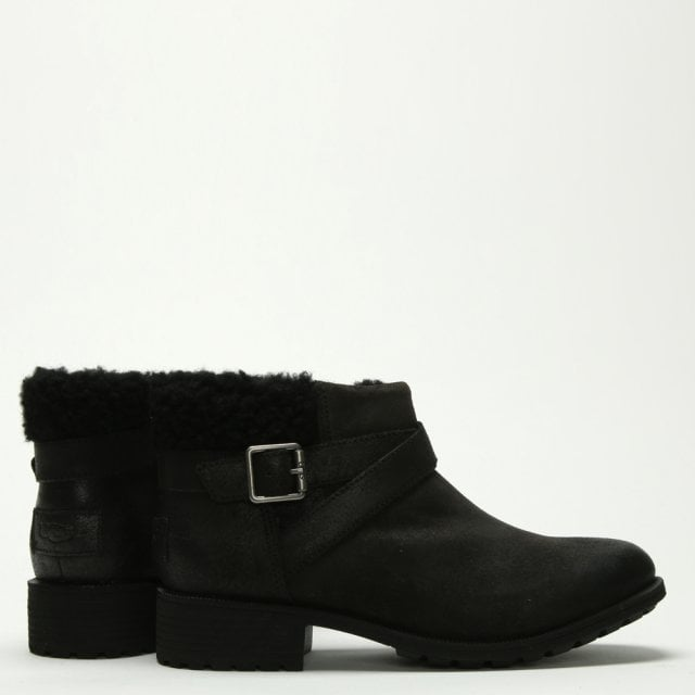 aaf9ccb06a7 Benson Black Leather Ankle Boots