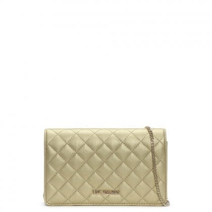 Bernese Small Gold Quilted Shoulder Bag