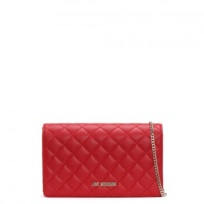 Bernese Small Red Quilted Shoulder Bag