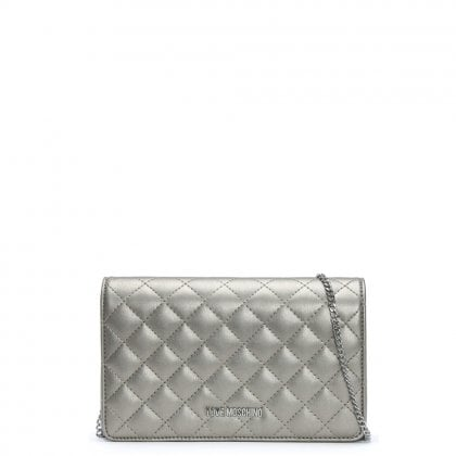 Bernese Small Silver Quilted Shoulder Bag
