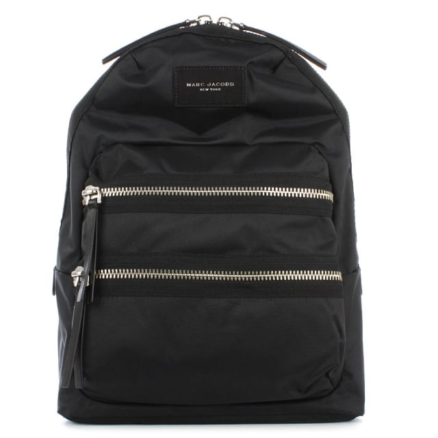 Biker Black Nylon Backpack