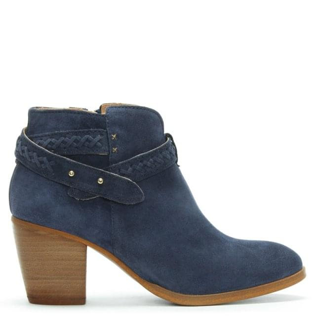 Bilbao Navy Suede Ankle Boots