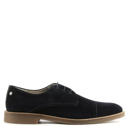 Billy Navy Suede Lace Up Shoe