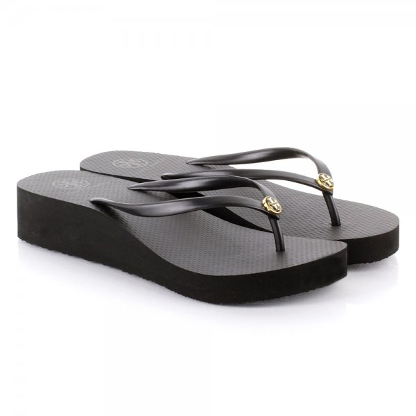 2195837319bcc Tory Burch Black 50008673 Women s Wedge Flip Flop