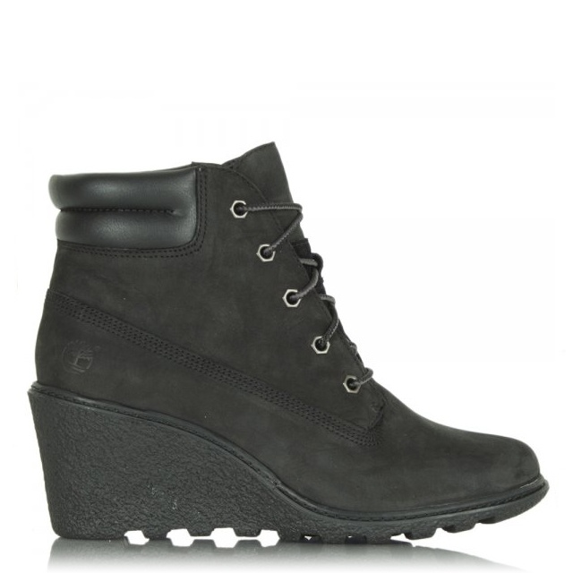 Timberland Black Amston Wedge Women s Ankle Boot b64aa33624