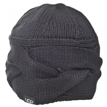 Black Beanie Womens Knitted Hat