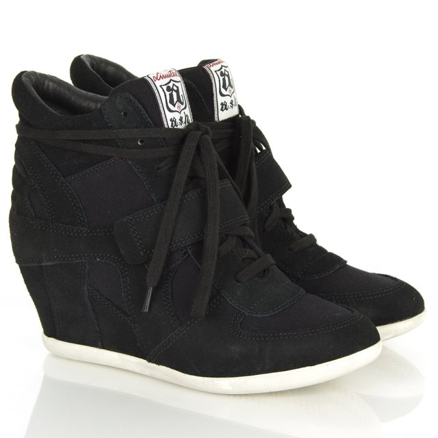 Black Bowie Women's Wedge High Top Trainer
