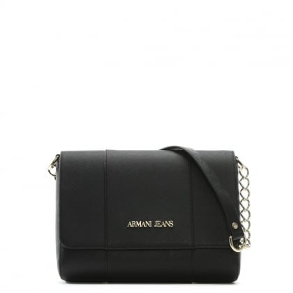 Black Chain Flapover Shoulder Bag