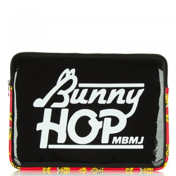 Black Coated Neoprene Bunny Hop 13 Computer Case