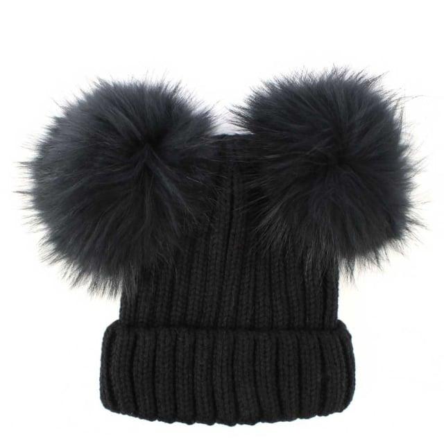 60561c811b5 Daniel Black Double Fur Pom Pom Hat
