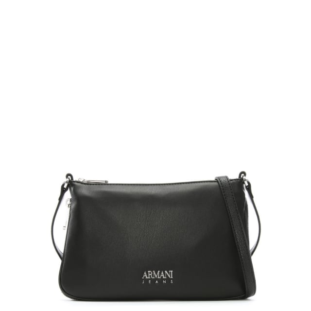 a96845b2fa Black Eco Leather Sling Cross-Body Bag