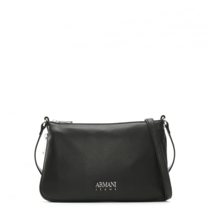 Black Eco Leather Sling Cross-Body Bag