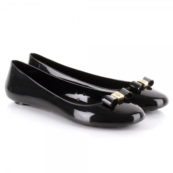 ab76ff46f Tory Burch Black Jelly Bow Women s Ballet Flat