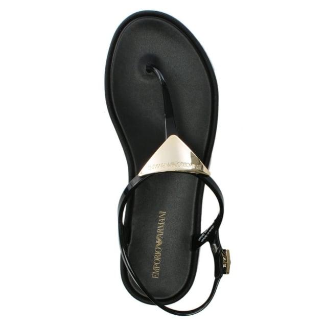 eb7befc6e Emporio Armani Black Jelly Toe Post Sandals