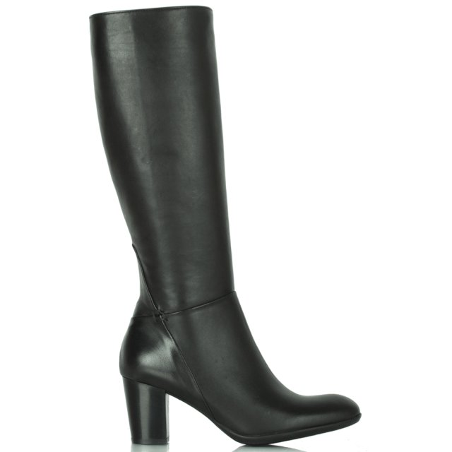 Black Leather Acimal 11 Knee Boot