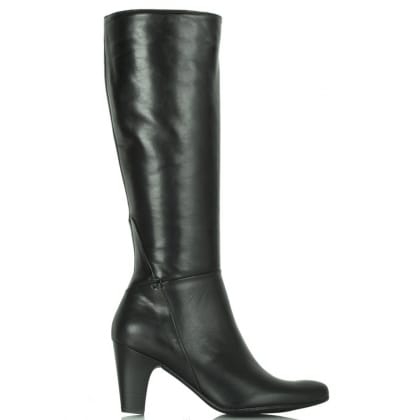 Daniel Black Leather Acimal 20 Knee Boot