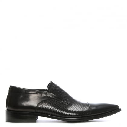 Black Leather Bovington Slip On