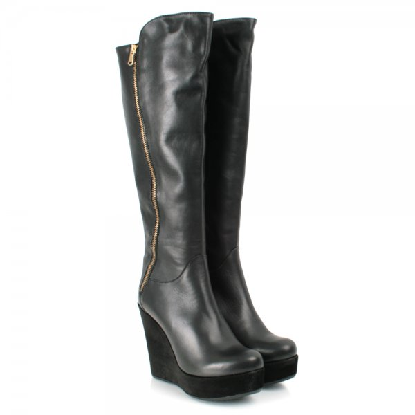 df84bac349a Daniel Black Leather KORELESS Womens Wedge Boot