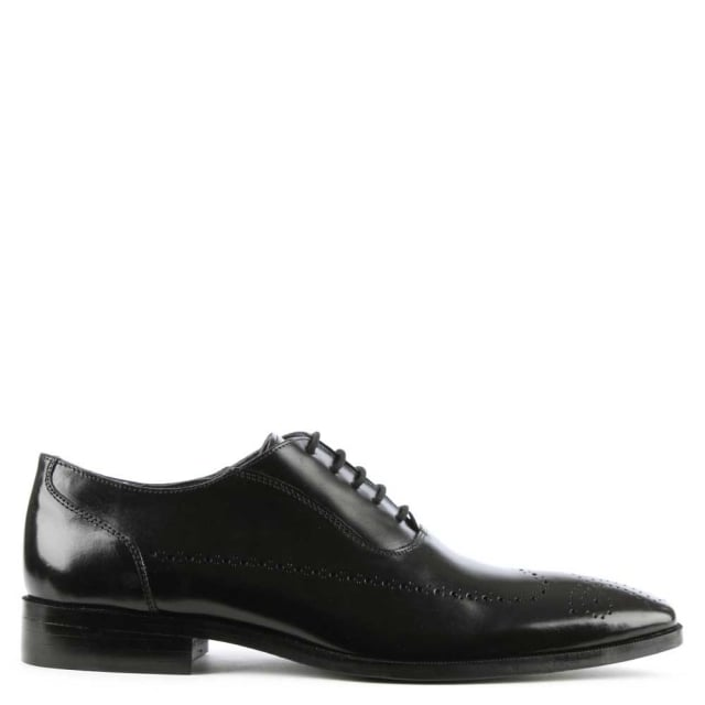 Black Leather Lace Up Brogue