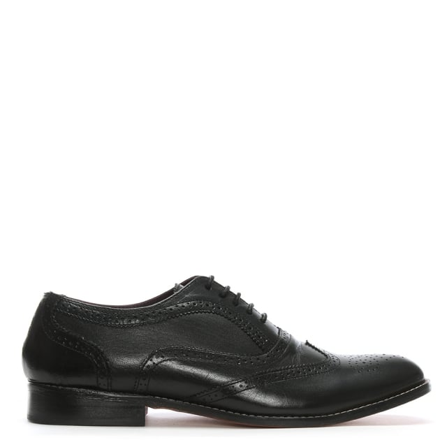 Gucinari Black Leather Lace Up Brogues